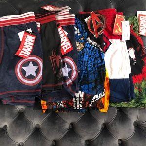 Men's Marvel Boxer Underwear Bundle Size Medium